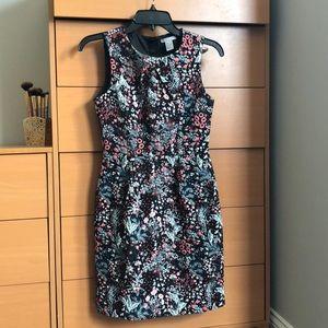 Black/floral h&m weave dress